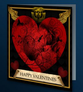 Design a sleek valentine s day card