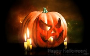 Design a halloween pumpkin wallpaper in gimp