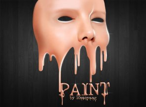 Create a Face Paint Dripping Effect