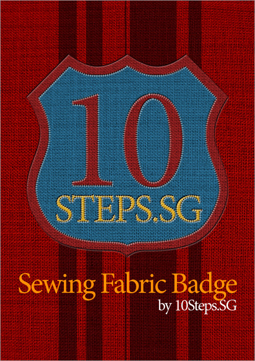 Sewing a Fabric Badge in Photoshop
