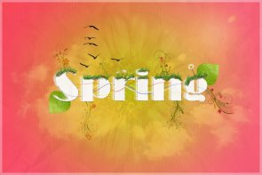 Create a Poster Celebrating the Passing of Spring