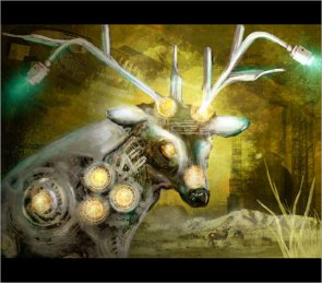 Digital Painting a High Tech Deer Scene