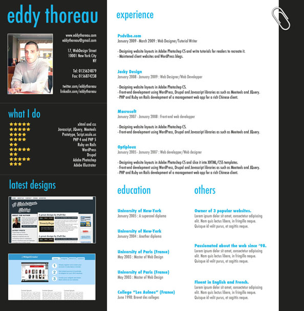 Create an astonishing resume with Adobe Photoshop