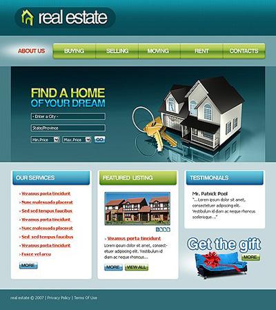 Free flash website templates for real estate real estate flash.