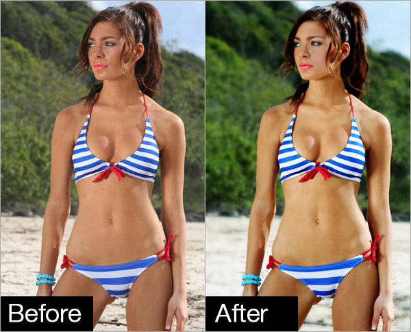 Professional Photo Retouching Bikini Model
