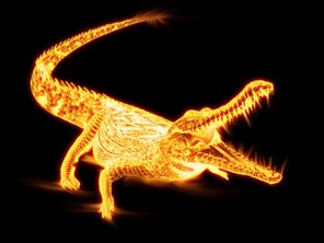 Create Flaming Crocodile