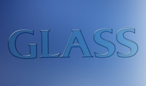 Photoshop Glass Text Effect