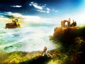 Design a Surreal Ancient Ruin and Coastal Island Scenery in Photoshop
