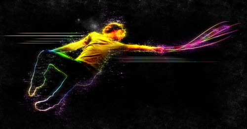 Create an Abstract Style, Vibrant Jumping Man Scene in Photoshop