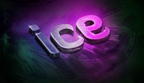 Design a Slick 3D Ice Text Effect