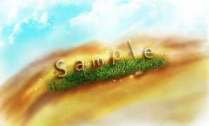 Create a Transparent Text Effect with Fresh Grass Texture and Custom Brushset