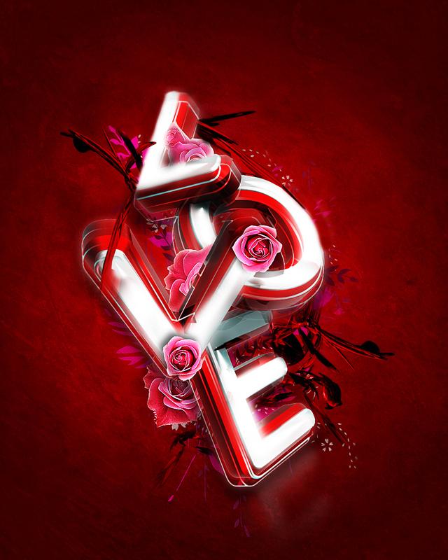 3d valentine s day typography exclusive tutorial 3d tutorials