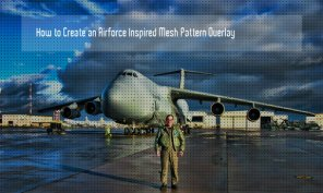 Create An Airforce Inspired Mesh Pattern Overlay