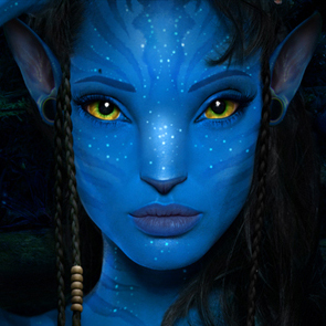 Angelina Jolie as a Na'vi from Avatar Movie