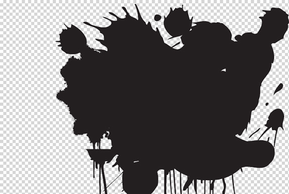 getting to know clipping masks and layer masks in Grunge Splat Vector Vector Banner Shapes