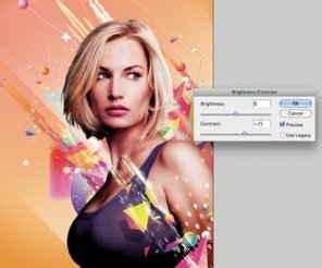 Composite Photos and Vectors for an 80s Photo Style