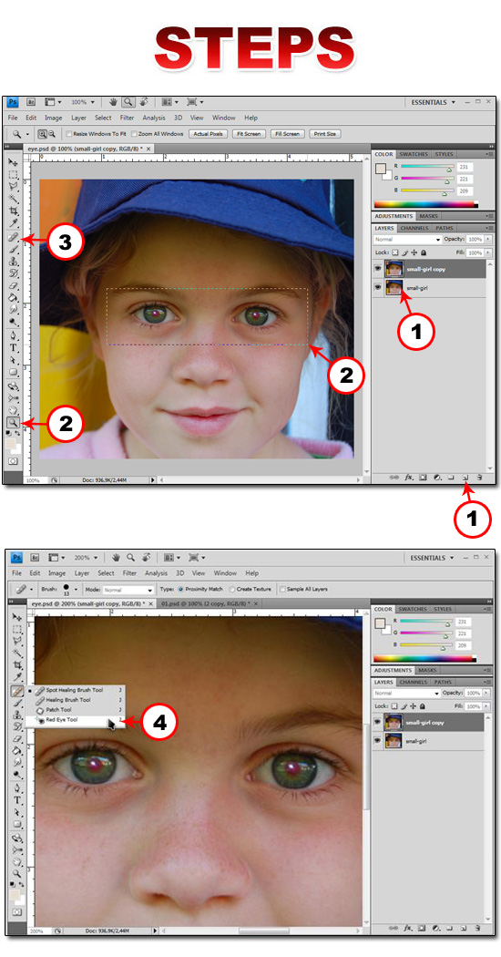 remove red eye in photoshop cs4 photoshop basics
