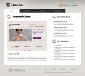 Design a Professional Portfolio Web Layout