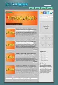 Web Design Blog Layout with 3D Details Using Photoshop