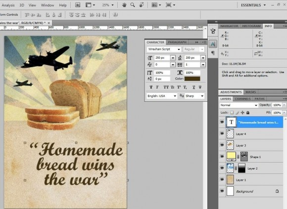 how to get rid of the underline in photoshop