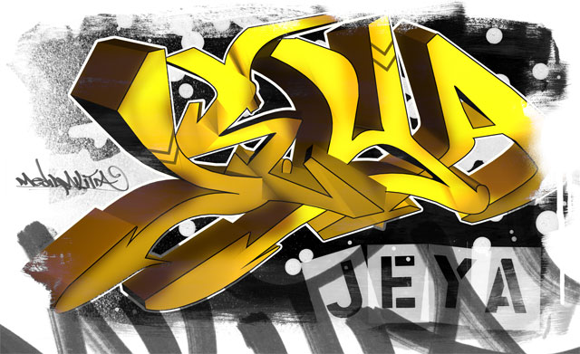 Hope you enjoyed this tutorial. 3D Graffiti Piece