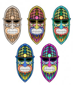 How to Create a Colorful Textured Tiki Mask in Illustrator