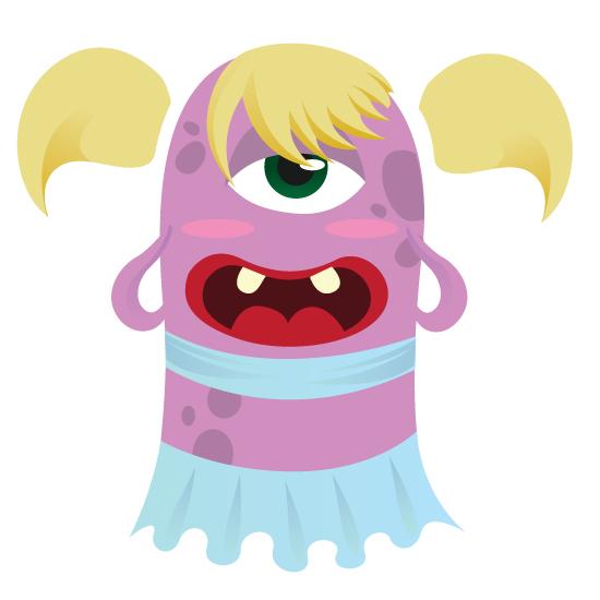 Create A Cute Monster Girl In Illustrator Adobe