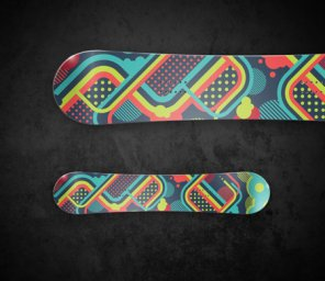 Create a Bright Vector Snowboard Design in Illustrator