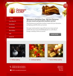 Design a Beautiful Red and Gold Christmas Themed Website