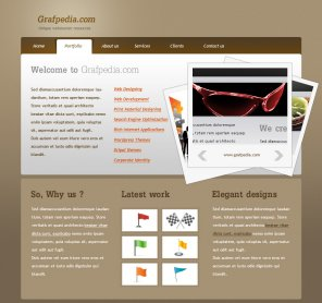 Wordpress portfolio layout
