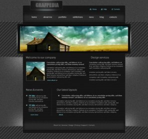 Create a Dark Portfolio Pixel Layout