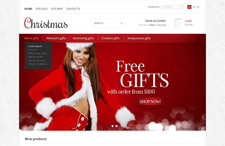 Christmas store PrestaShop Theme