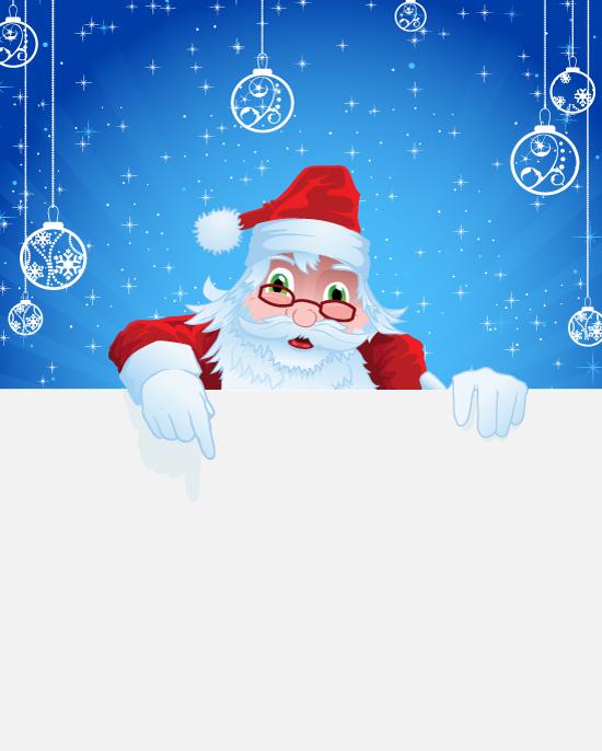 how to draw a cute santa