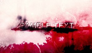Create a Grungy Looking, Blood-Stained Text Effect in Photoshopp