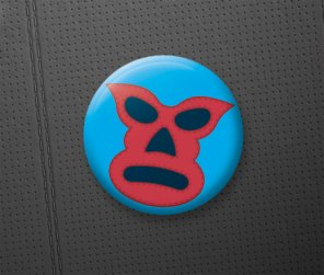 How To Create a Mexican Lucha Libre Mask Pin Badge