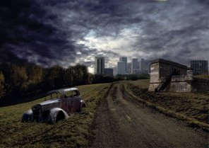 Urban Wasteland Photo Manipulation