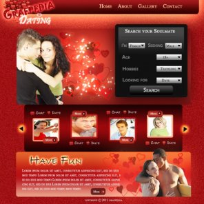 Creating a Romantic Dating Agency layout in Photoshop
