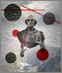 Create a Striking Collage Fusing Ancient and Modern