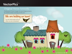 Vector Tutorial : The Making of Splash Page for Vector Pics.com
