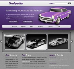Design a Car Dealer Website Layout with Photoshop