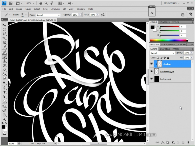 Calligraphy with photoshop and illustrator adobe