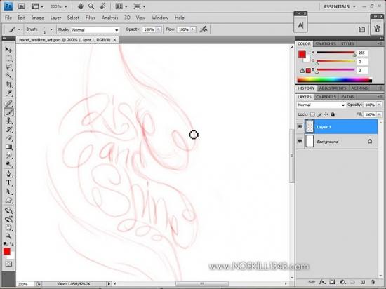 how to make an illustration digital