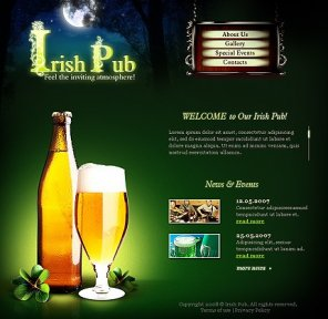 Amazing collection of brewery web design and template