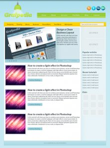 Design a modern blog layout in photoshop