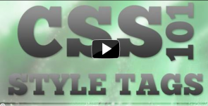 Basics of CSS Styling Tags (Video Tutorial)