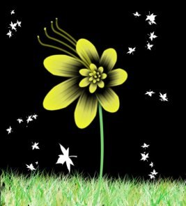 Attractive Yellow Flower Tutorial in Photoshop