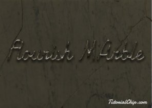 Create Flourish Marble Text Effect in Photoshop