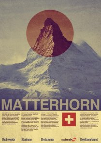 Design a Vintage Style Swissair Travel Poster In Photoshop