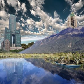 Create a realistic landscape in photoshop