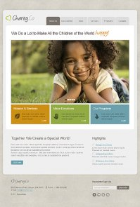 Cute Showcase of Charity Websites and Templates